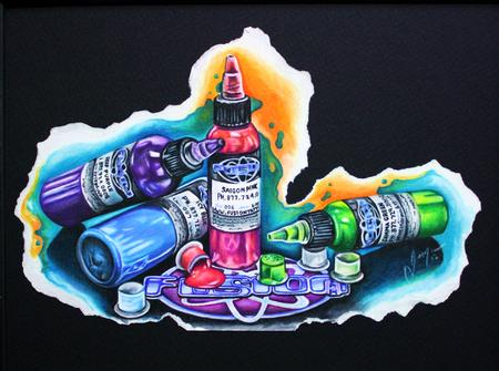 Justin Mariani - Ink Bottles