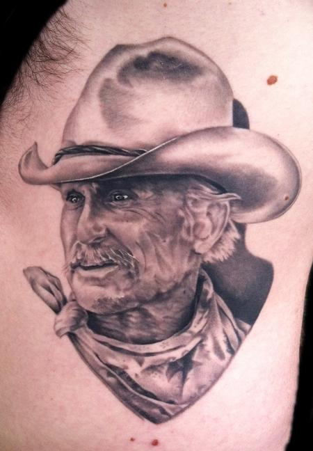 Robert Duval in Lonesome Dove Tattoo Design Thumbnail