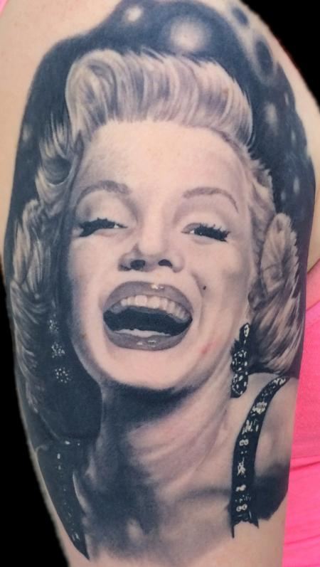 Marilyn Monroe Tattoo Design Thumbnail