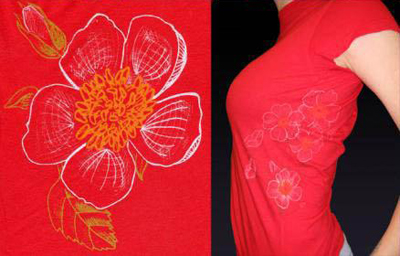 C101Red - Women's Rose Tee