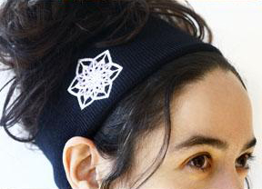 C130Black - Crystal Headband