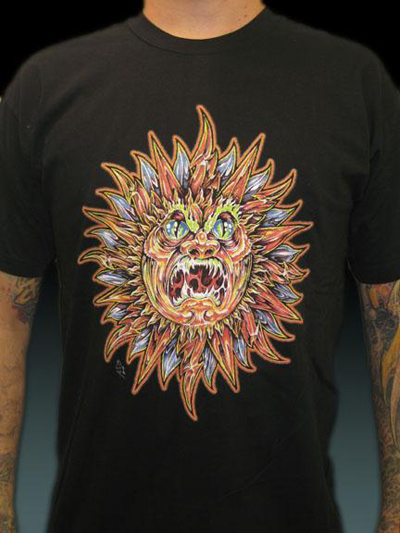 C131 Classic Angry Sun shirt Guy Aitchison