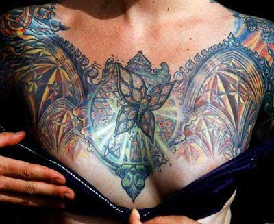 Tattoos - Stained Glass Butterfly - 14348