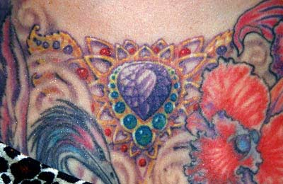 Tattoos - Jeweled Chest - 14798