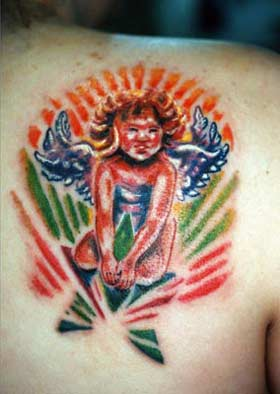Tattoos - Angel on a Star - 29022