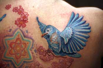 Tattoos - Blue Bird - 29023