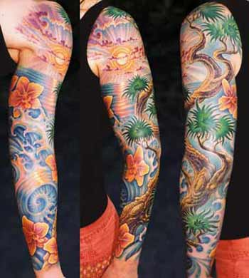 Tattoos - Tree by an Ocean Sunset - 28321