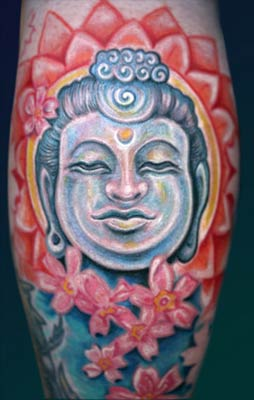 Tattoos - Budda with Cherry Blossoms - 28422