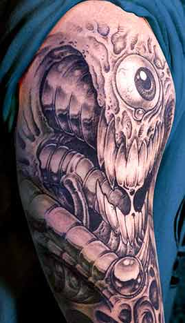 Tattoos Of Eyeballs. Bio Mech Eyeball