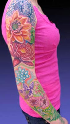 Michele Wortman - Flower Garden Sleeve