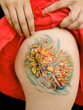 Tattoos - Flowers in Water - 29079