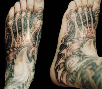 Tattoos - Bio Mech Foot - 29095