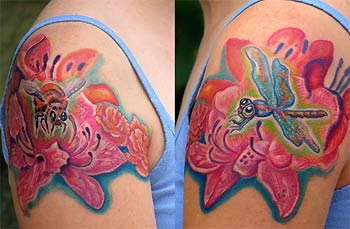 Tattoos - Bee - Dragonfly Bodyset - 30517