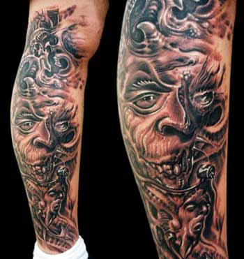 Tattoos - Bio-mech Faces - 13925