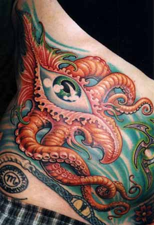 Tattoos - Tentacle Eye on  Stomach - 28328