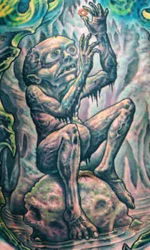 Tattoos - J.R. Tolken Gollum - 29415
