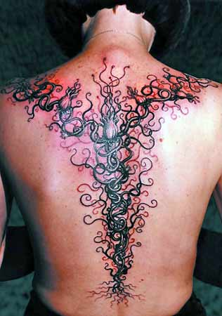 Tattoos - Vine on Spine - 29099