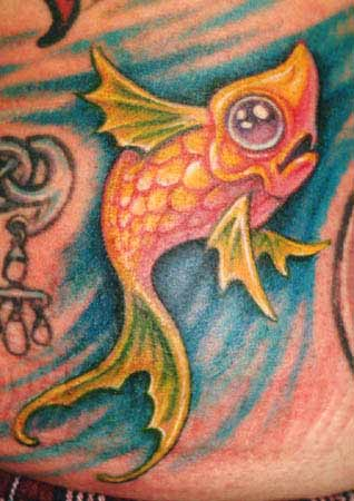 Tattoos - fish tattoo - 4551