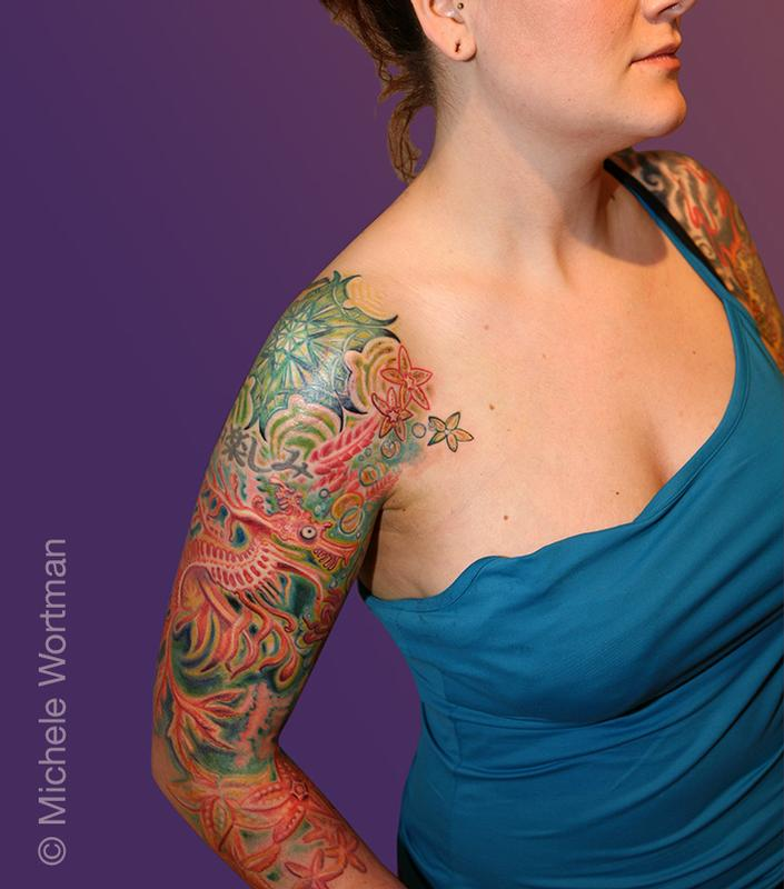 Hyperspace studios tattoos michele wortman jessica for Sea dragon tattoo