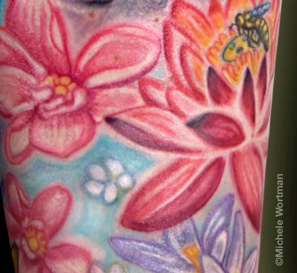 Michele Wortman - kristen Buddha half sleeve detail