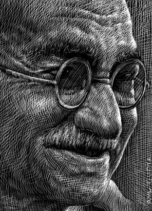 Guy Aitchison - Anil Gupta: Ghandi (detail)