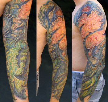 Tattoos - Bio Sleeve Tattoo - 33870