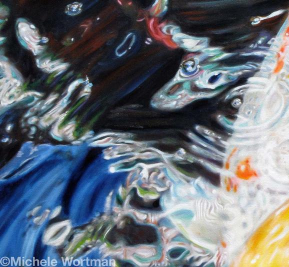 Michele Wortman - Koi Waters detail