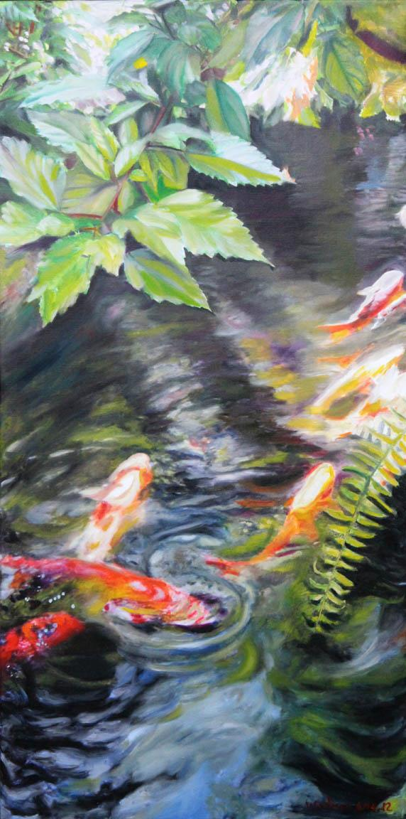 Michele Wortman - Koi pond 11