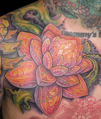 Lotus Flower Tattoo Guy