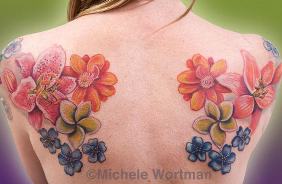 Michele Wortman - Pirkko flower backset