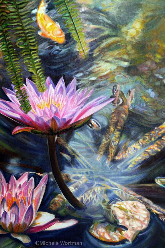 Michele Wortman - Watergarden detail