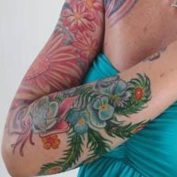 Tattoos - Lisa feathers and flowers bodyset - 71353