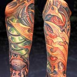 Tattoos - Bio Leg Sleeve Coverup, Detail - 13882