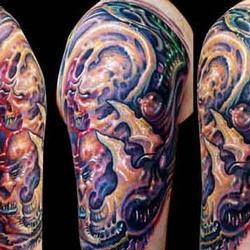 Tattoos - Bio Skulls - 13926
