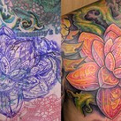 Tattoos - Lotus Cover up - 36594
