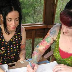 Tattoos - Drawing with my flower sister Lizi Sage - 79166