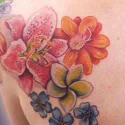 Tattoos - Pirkko flower backset - 71372