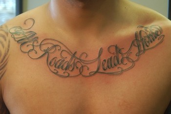 Tattoos - All roads lead home script - 41913
