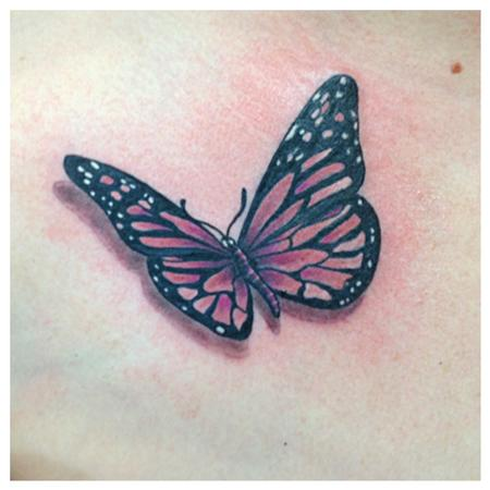 Tattoos - pink monarch - 80105