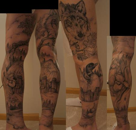 Shawn Hebrank - Minnesota Leg Sleeve