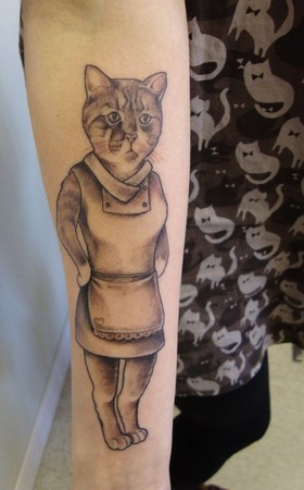 Shawn Hebrank - Cat Portrait Wearing a Dress