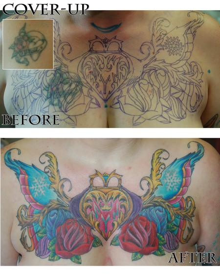 Tattoos - Heart cover-up - 76165
