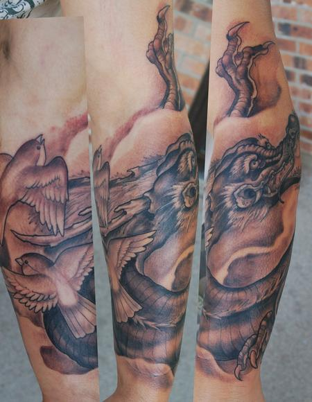 Dragon Sleeve Tattoo Design Thumbnail