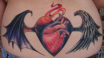 Ben Rettke - Heart with wings tattoo