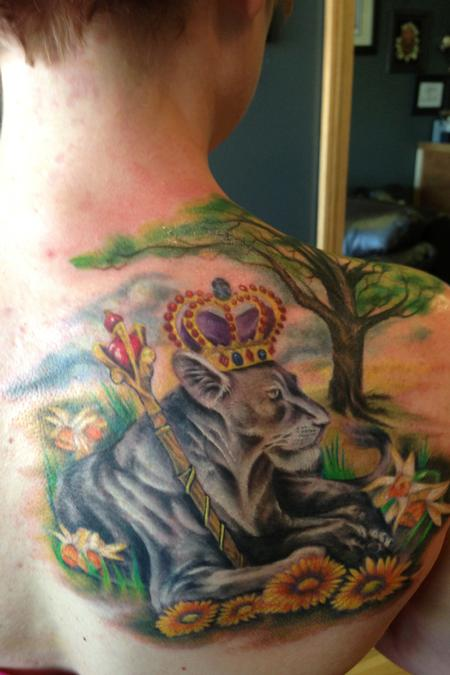 Lioness by Todd Lambright: TattooNOW :