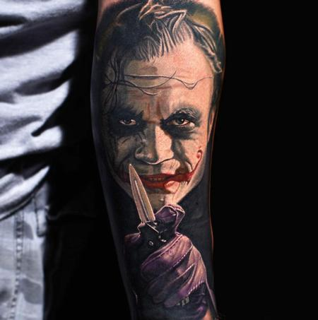 Nikko Hurtado - Joker Tattoo