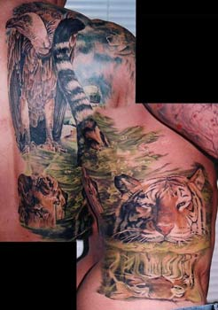 Tattoos - Jungle tiger tattoo - 26810