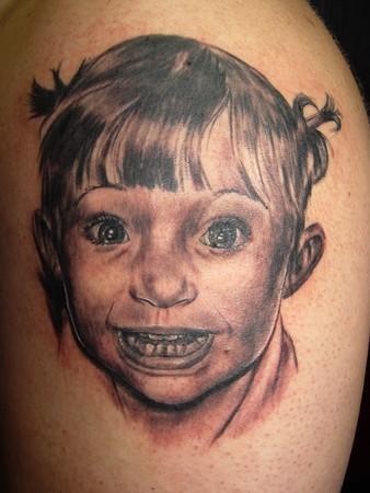 Tattoos - Little Girl Portrait - 36452