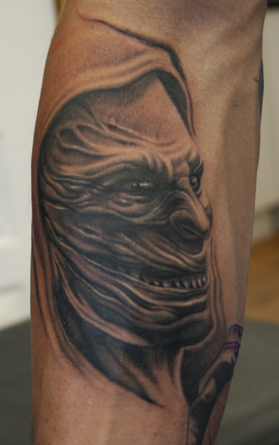 demon face tattoo - photo #7