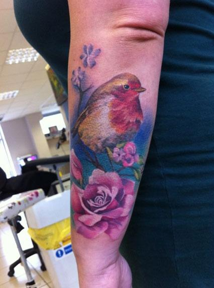 Off the map tattoo lianne moule tattoos page 1 for Realistic bird tattoo
